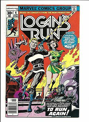 Logan's Run # 6 (1St Solo Thanos Story, Cents Issue, June 1977), Vf+