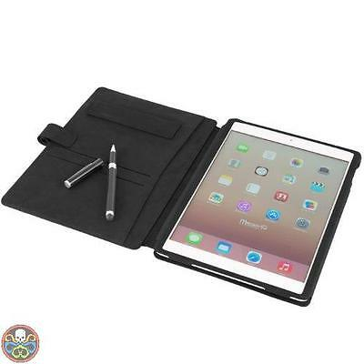 Macoon Tg: Ipad Air Nero Mc2343Bla Heathrow Organizer Custodia In Pelle Nuovo