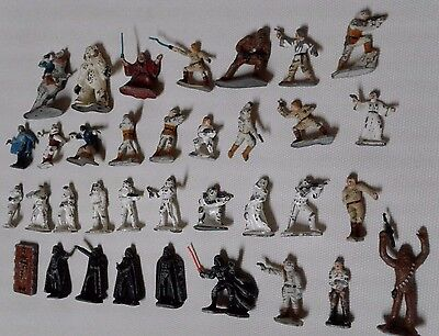Star Wars Micro Collection Figurines - Kenner 1980's (35 pieces)