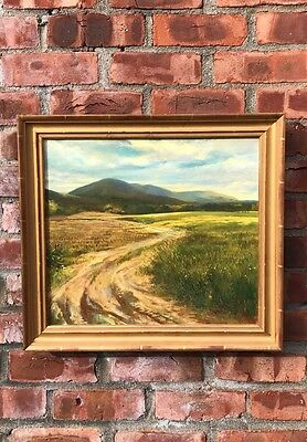 "Connecticut Landscape Oil Painting. ""Canaan Looking North"" Signed Ann Getsinger"