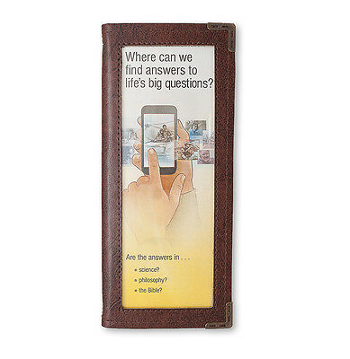Leatherette Booklets holder (brown) - Jehovah's Witnesses