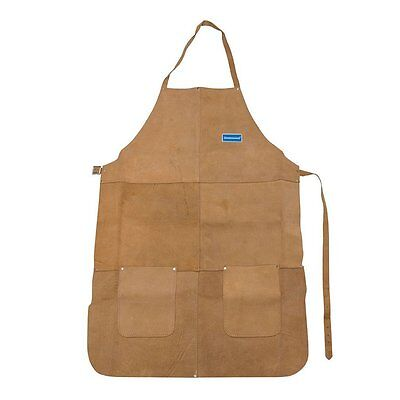 Full Length Heavy Duty Apron Carpenter Crafts Welding Safety Chrome leather