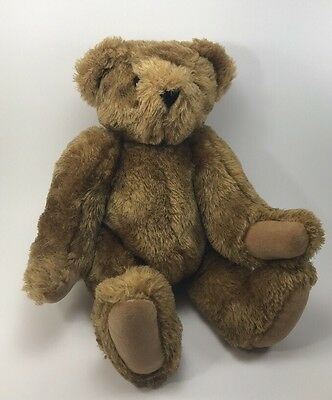 """Vermont Teddy Bear 15"""" Brown With Jointed Moveable Arms"""