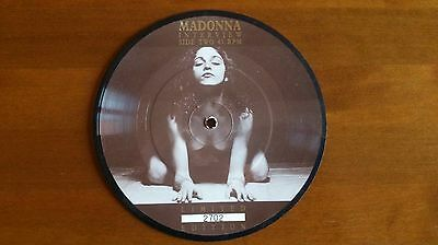 """Madonna Interview 1988 7"""" Limited Edition Picture Disc"""