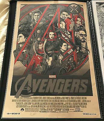 Tyler Stout AVENGERS VARIANT Mondo Movie Print Poster Limited Edition
