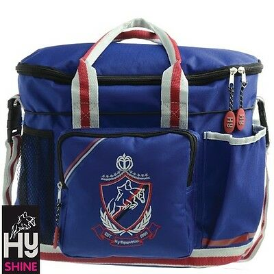 HySHINE Pro Grooming Bag – Navy, Red & Grey – Handy Bag For Competition Days