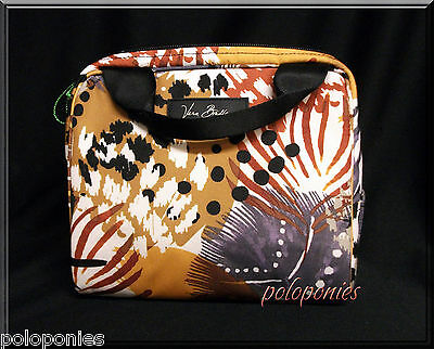VERA BRADLEY Lighten Up Lunch Cooler Bag - Painted Feathers Pattern NWT