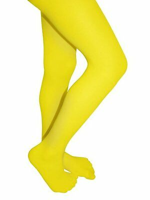 53babdcb04d7d 1 Pair Girls Tights Microfiber Lycra Opaque Colored Hosiery Yellow