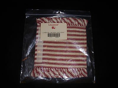 Longaberger Sweetheart Fabric Handle Gripper New in Bag! Item #22641 Red Ticking