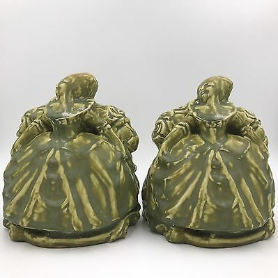 Rookwood Pottery Colonial Women Bookends (#2185) William MacDonald - 1919