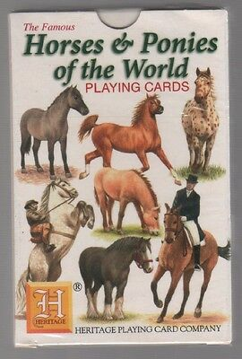 Vintage 1997 Sealed Pack Horses & Ponies of The World Playing Cards