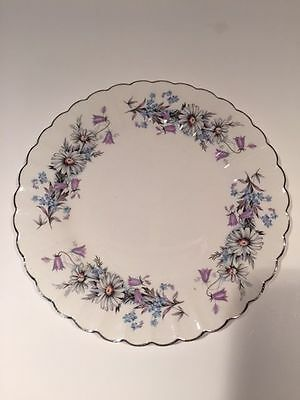 J & G Meakin Classic White MORNING DEW Daisies Blue Purple Floral S. Plates 6.5""