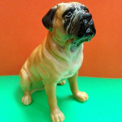 Bullmastiff figurine dog porcelain from Russia statuette high quality