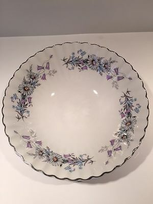 J & G Meakin MORNING DEW Daisies Blue Purple Floral Vegetable Serving Bowl 8.5""