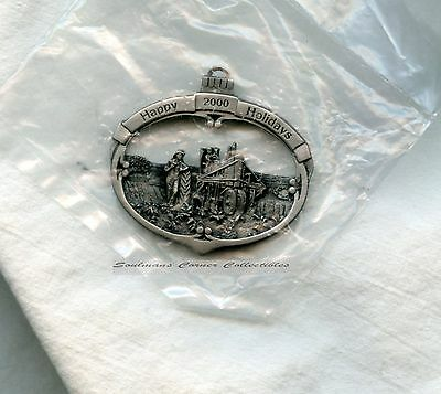Excellent Vintage John Deere Pewter Christmas Ornament Walter H. Hinton Numbered