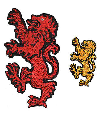 Scotland Scottish Red Golden National Lion Iron on Patch/Badge Embroidered