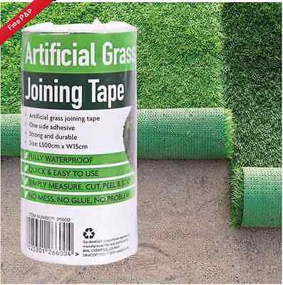 Artificial Grass Tape Joining Jointing Self Adhesive Fixing Fake Astro Turf - 5m