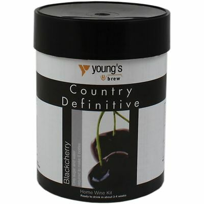 Youngs Definitive Country  Black Cherry Wine kit 6 bot FREEPOST UK