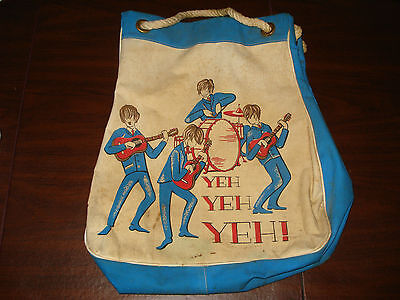 1964-65 Beatles Beach Bag - Yeh, Yeh, Yeh-  Hard To Find Item,