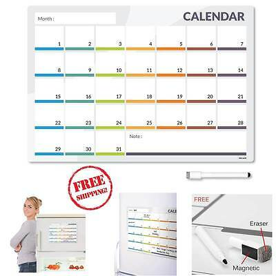 2017 Magnetic Fridge Board Calender One Month to View Calendar Planner Office
