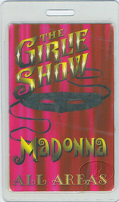 MADONNA 1993 Girlie Show Laminated Backstage Pass All Access