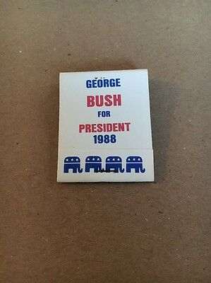 50 George Bush For President 1988 Matches Matchbooks