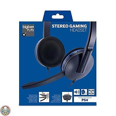 Bigben Interactive Nero/blu Ps4 Gaming Headset Headset Nuovo