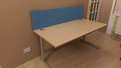 Senator Large Home Office Computer Desk Workstation with Cable Management Beech