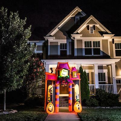 8Ft Animatronic Lighted Haunted House Archway Halloween Airblown Inflatable Yard