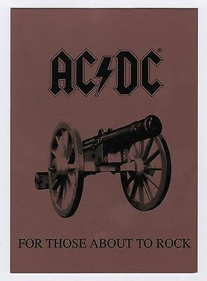 40x AC/DC For Those About To Rock - Postcard (Lot of 40 Postcards)