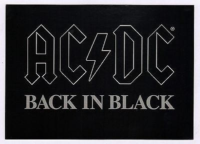 40x AC/DC Back in Black - Postcard (Lot of 40 Postcards)