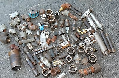 Large Amount of Plumbers Metal Fittings Pipe etc. Cast Iron?