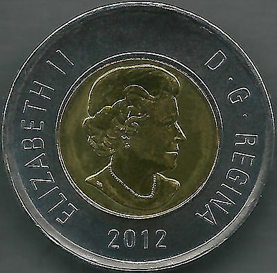 2012 Canada 2 Dollars Toonie (New Version) *unc*  #2012