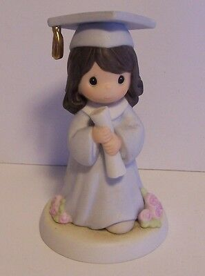 Precious Moments Graduation Lord the Hope of our Future Girl Brunette Figurine