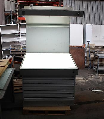 Light table overhead inspection Plan drawer cabinet Adelaide printers design