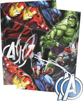 Marvel Comics Avengers Captain AmerIca  2 sheets gift wrap +tags Wrapping Paper