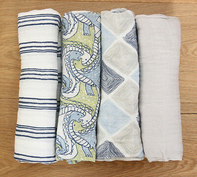 Ideal Baby aden anais Baby Boy Swaddle Blanket ~ White /& Gray ~ Pick 1 ~