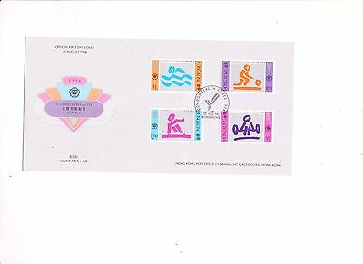 """Hong Kong, 1994, """"commomwealth Games"""" Stamp Set On Gpo Fdc. With Specail Chop"""