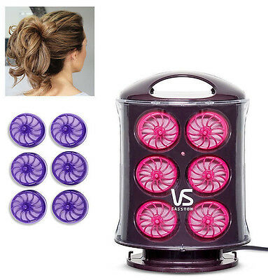 12x Heated Rollers Hair Curlers VS SASSOON Fast Heat Up Silicone Curling Stand