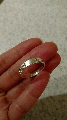925 sterling silver wedding band ring size 9