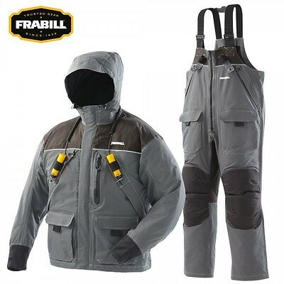 Frabill I2 Series Ice Fishing Suit - Parka Jacket / Bibs Bib Combo Dark Grey