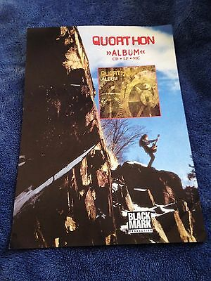 QUORTHON - Album POSTER (42cm x 29.5cm) Black Mark Production BATHORY