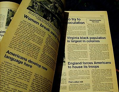 Newspaper History United States NEWS NATION 1493 - 1975 Historical old vintage