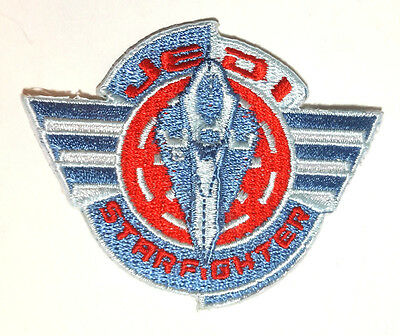"""Star Wars JEDI Starfighter Logo 3"""" Embroidered Patch- FREE S&H (SWPA-CD-95-SF)"""