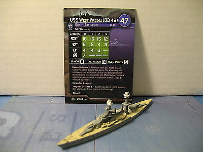 Axis and Allies War at Sea Condition Zebra USS West Virginia (BB 48) 21/40