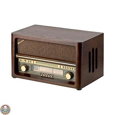 Roadstar Radio In Legno Vintage Con Cd E Usb Player Hra-1540Ue/bt Nuovo