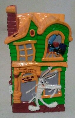 """Looney Tunes Plastic Haunted House Coin Bank from Russel Stover - 5 5/8"""" Tall"""