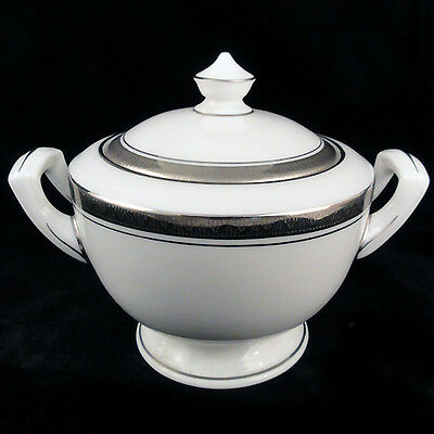 "BARONESS Royal Worcester Covered Sugar Bowl 4.5"" tall NEW NEVER USED Bone China"