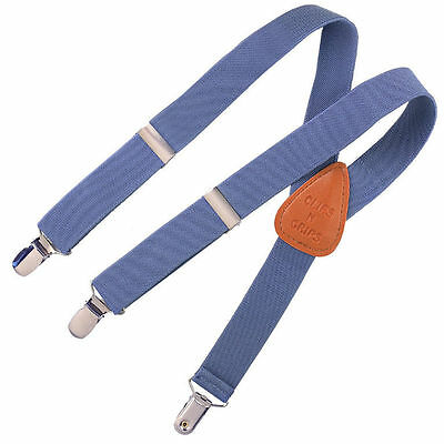 Childrens Toddlers Elastic Adjustable Suspender Chambray Denim Kids Suspenders