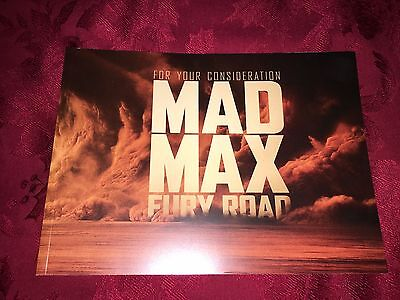 Mad Max Fury Road Oscar Awards Book Press Fyc For Your Consideration